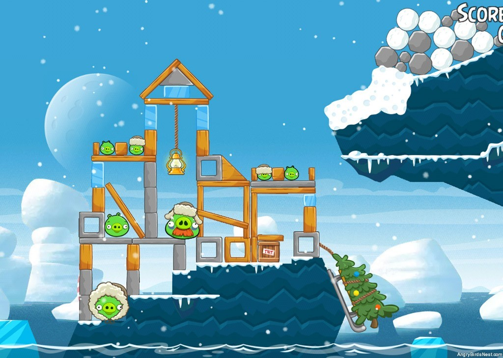 Angry Birds Seasons Arctic Eggspedition Level 1 20