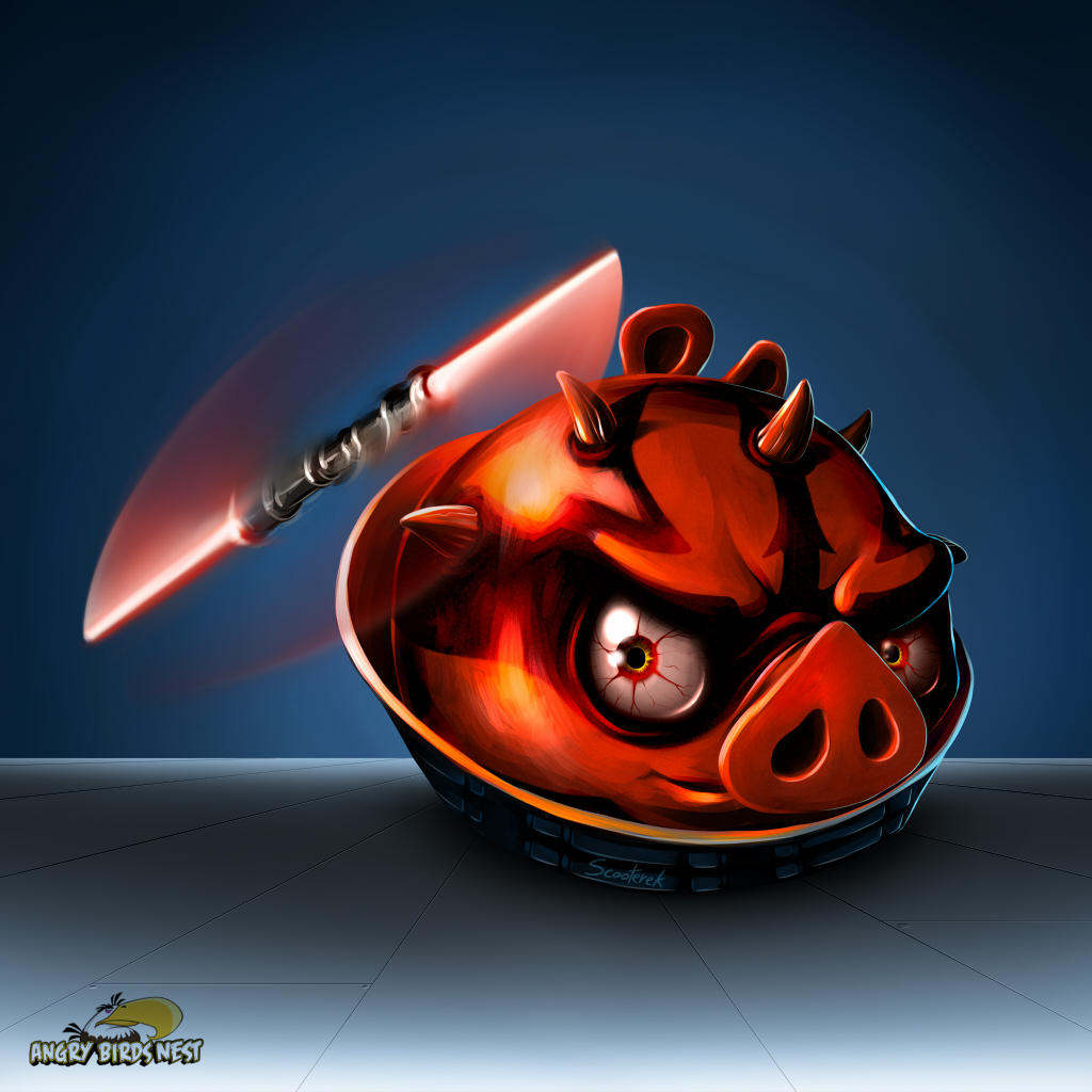 Angry Birds Star Wars Darth Maul iPad Tablet Wallpaper