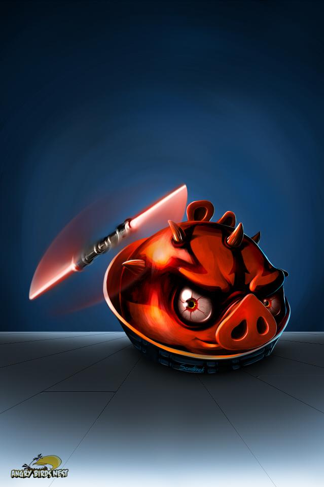 Angry Birds Star Wars Darth Maul Wallpaper Set For Mobile Tablet And Desktop Angrybirdsnest