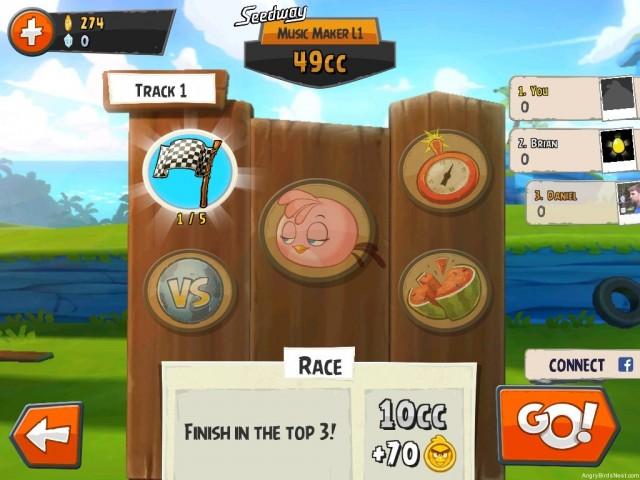 Angry Birds Go Race Mode Screenshot