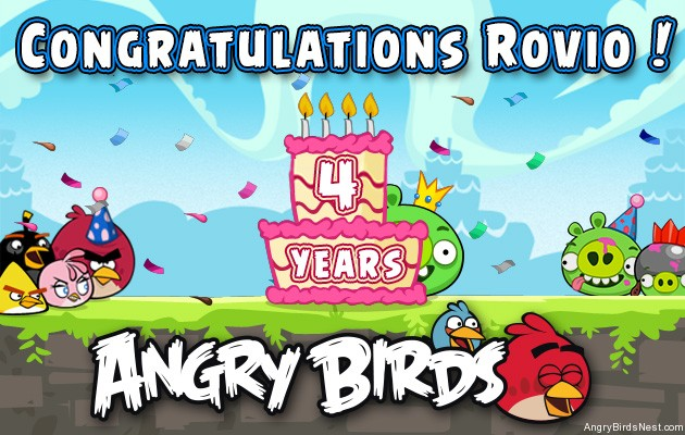 Happy 4th Birthday Angry Birds