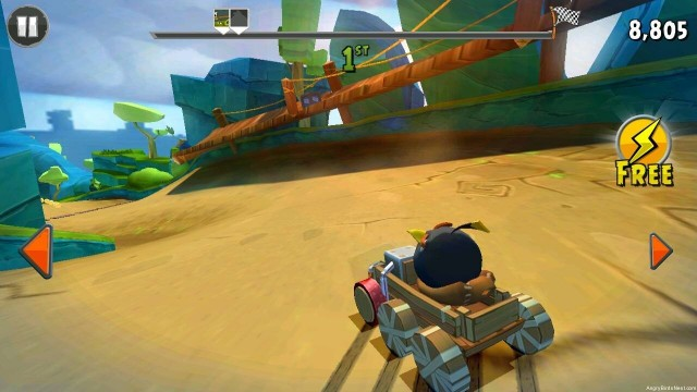Angry Birds Go Bomb Bird Drifting