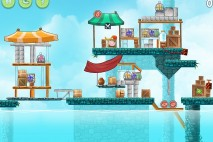 Angry Birds Rio High Dive Walkthrough Level #13