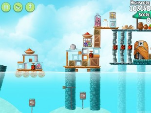 Angry Birds Rio High Dive Walkthrough Level #20