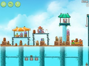Angry Birds Rio High Dive Walkthrough Level #9