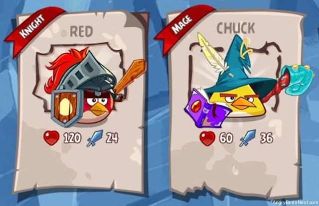 Angry Birds Epic Characters Knight and Mage Screenshot v2