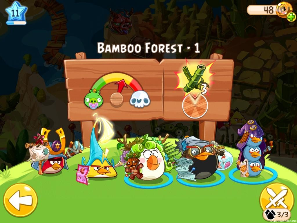 Angry Birds Epic Bamboo Forest Level 1 Walkthrough ...