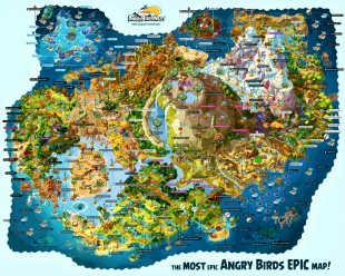 Fully Labeled Map of Angry Birds Epic's Piggy Island! Truly the most EPIC of Maps!
