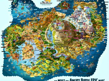 Fully Labeled Map of Angry Birds Epic's Piggy Island! Truly the most