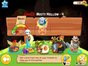 Angry Birds Epic Misty Hollow Level 4 Walkthrough | Chronicle Cave 3 | Hazy Hollow