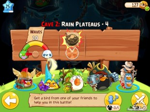 Angry Birds Epic Soothing Springs Rain Plateaus Level 4 Walkthrough | Chronicle Cave 2
