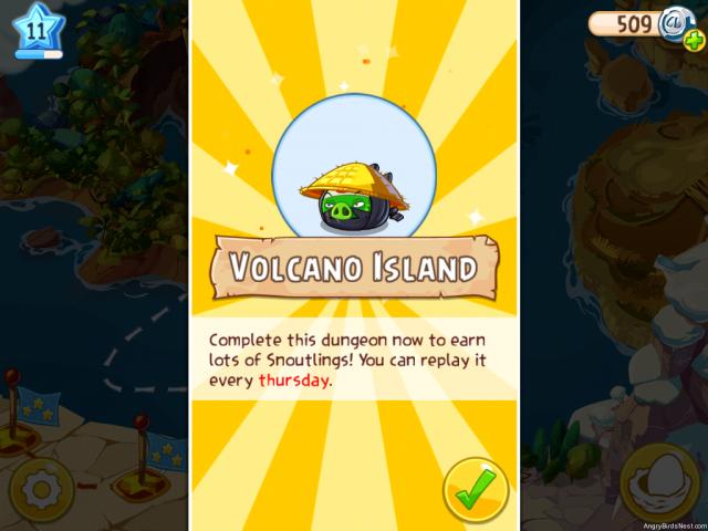 Angry Birds Epic Volcano Island Image
