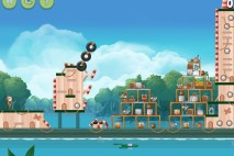 Angry Birds Rio Blossom River Feather Bonus Walkthrough Level 1