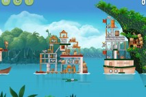 Angry Birds Rio Blossom River Feather Bonus Walkthrough Level 2