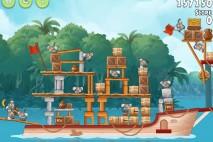 Angry Birds Rio Blossom River Walkthrough Level #16