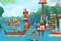 Angry Birds Rio Blossom River Walkthrough Level #17