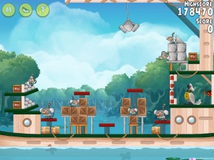 Angry Birds Rio Blossom River Walkthrough Level #20