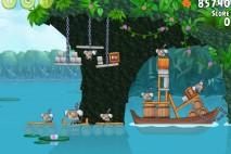 Angry Birds Rio Blossom River Walkthrough Level #3