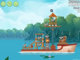 Angry Birds Rio Anchor #4 Walkthrough Level 8