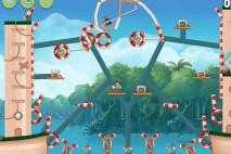 Angry Birds Rio Blossom River Star Bonus Walkthrough Level 1