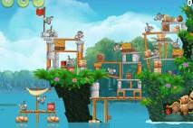 Angry Birds Rio Blossom River Star Bonus Walkthrough Level 2