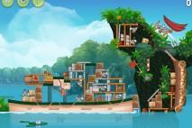 Angry Birds Rio Blossom River Star Bonus Walkthrough Level 3
