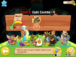 Angry Birds Epic Cure Cavern Level 4 Walkthrough | Chronicle Cave 4 | Endless Winter