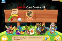 Angry Birds Epic Cure Cavern Level 9 Walkthrough | Chronicle Cave 4 | Endless Winter