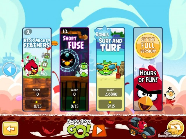 Angry Birds Free v160 Episode Selection Screen