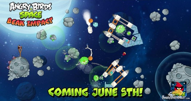 Angry Birds Space Beak Impact First Teaser Image