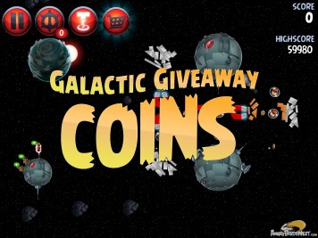 Angry Birds Star Wars 2 Level P1-S3 Galactic Giveaway Coins