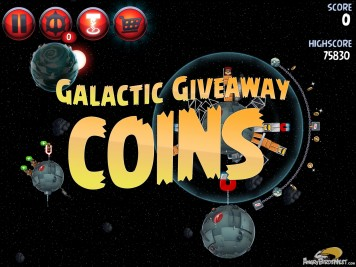 Angry Birds Star Wars 2 Level P1-S4 Galactic Giveaway Coins
