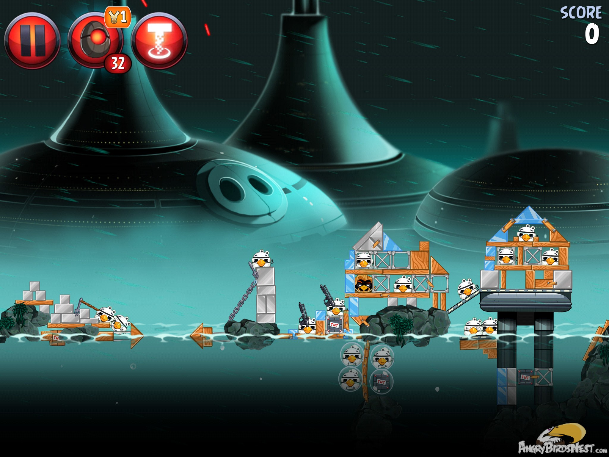 Angry Birds Star Wars 2 Rise of the Clones Level P4-14 ...