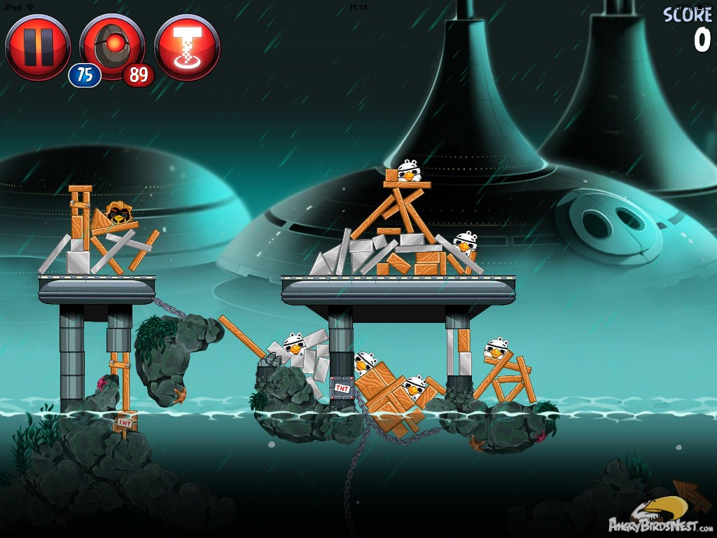 angry birds star wars 2 rise of the clones level p4 19 walkthrough angrybirdsnest. Black Bedroom Furniture Sets. Home Design Ideas