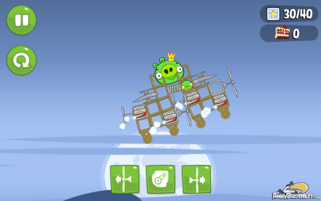 Bad Piggies Flying Saucer