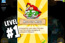 Angry Birds Epic Burning Plain Level 1 Walkthrough | Chronicle Cave 5 | Molten Mine
