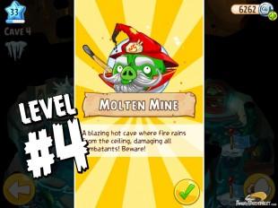 Angry Birds Epic Burning Plain Level 4 Walkthrough | Chronicle Cave 5 | Molten Mine
