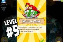 Angry Birds Epic Burning Plain Level 5 Walkthrough | Chronicle Cave 5 | Molten Mine
