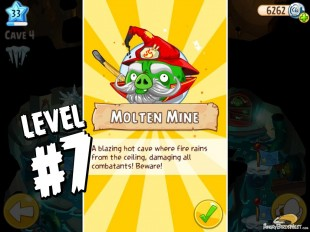 Angry Birds Epic Burning Plain Level 7 Walkthrough | Chronicle Cave 5 | Molten Mine