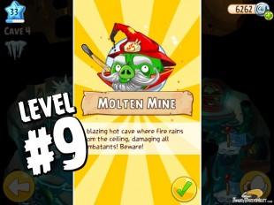 Angry Birds Epic Burning Plain Level 9 Walkthrough | Chronicle Cave 5 | Molten Mine