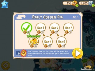 Angry Birds Epic Daily Golden Pig Awards