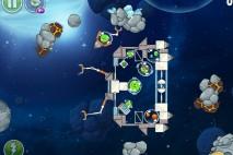 Angry Birds Space Beak Impact Level 8-22 Walkthrough