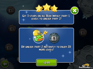 Angry Birds Space Beak Impact Part 2 IAP