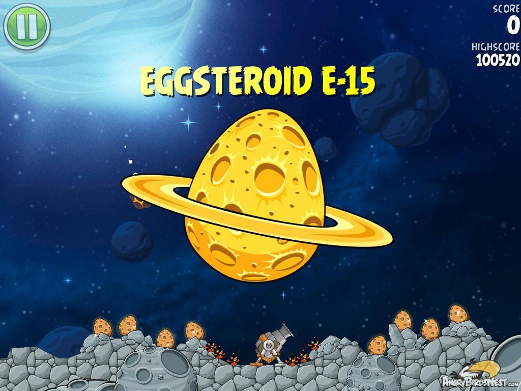 Angry Birds Space Golden Eggsteroid #15 (E-15) Walkthrough ...