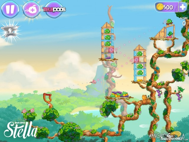 Angry Birds Stella Game Screenshot - First Level Revealed
