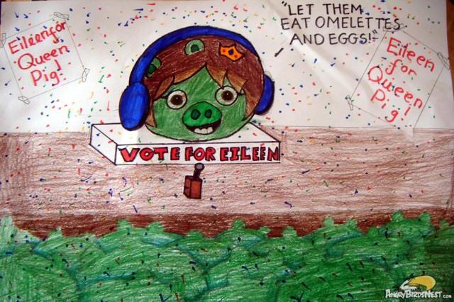 Bad Piggies Queen Pig Fanart by Eileen