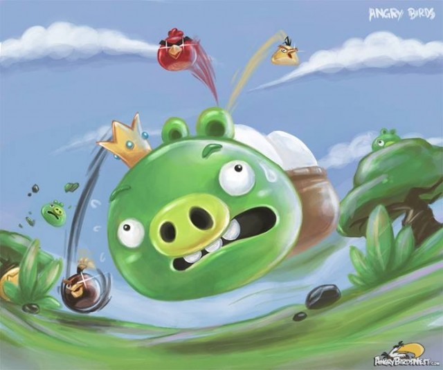 King Pig escapes from Angry Birds