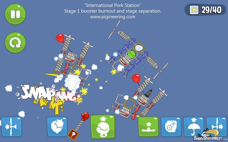 Bad Piggies International Space Station