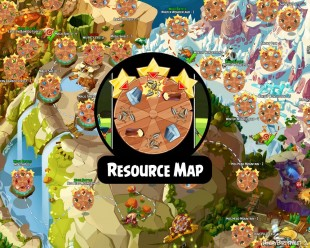 "Fully Labeled Angry Birds Epic Resources Map | Maximize Your ""Roll for Loot""!"