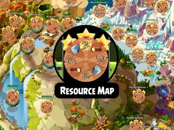 Angry Birds Epic Fully Labeled Resources Map Featured Image